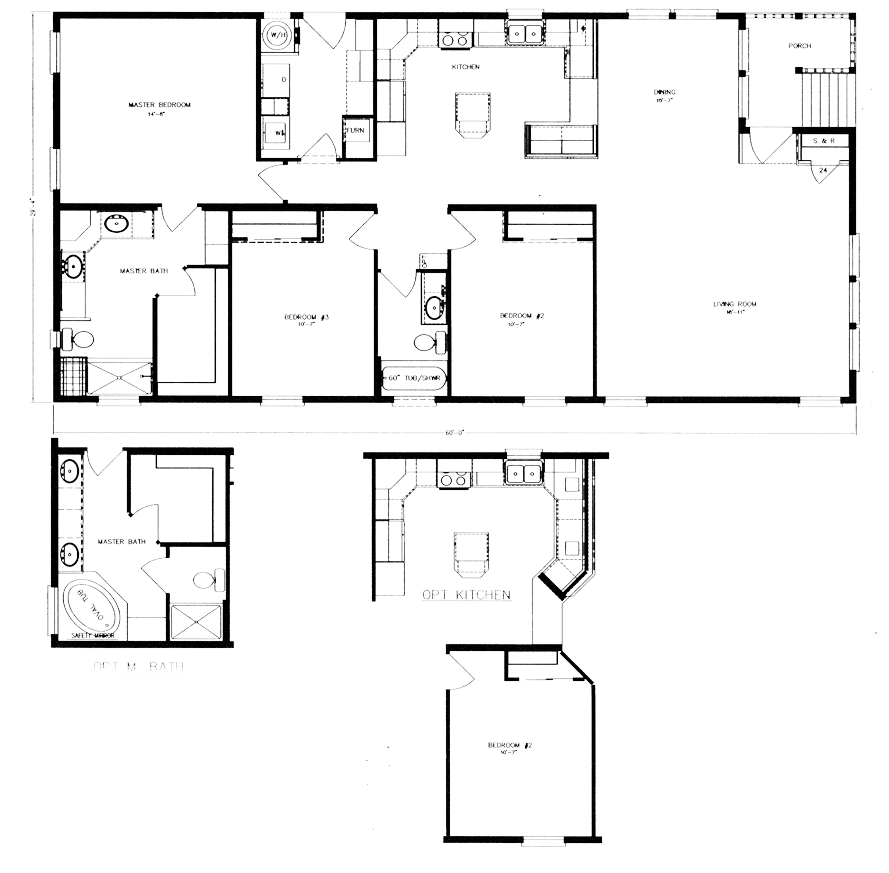 Floor plans evans and evans for 30x60 house plan
