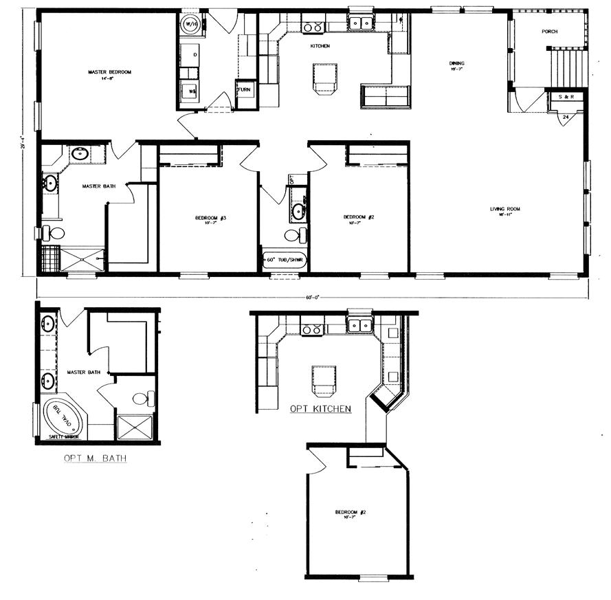 Floor plans evans and evans for Handicap accessible modular home floor plans