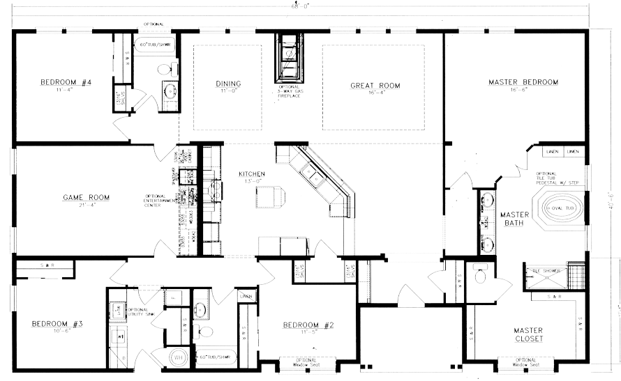 The Timberidge 408 X 60. 4 Bedroom, 3 Bathroom ...